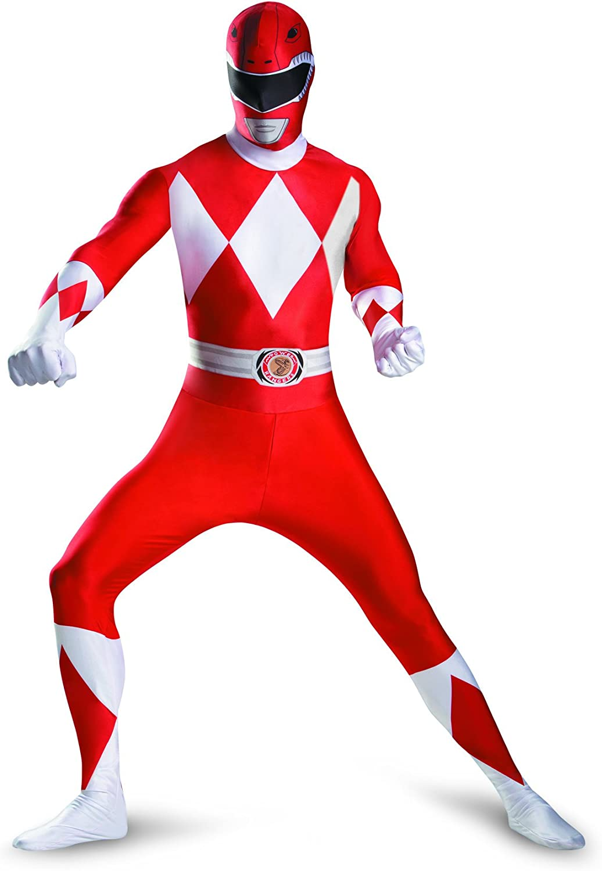 Kost-me f-r alle Anl-sse DG55620D rot Ranger Bodysuit Adult Kosten