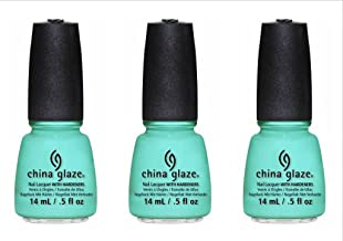 (3 Pack) CHINA GLAZE Nail Lacquer - Sunsational - Too Yacht to Handle