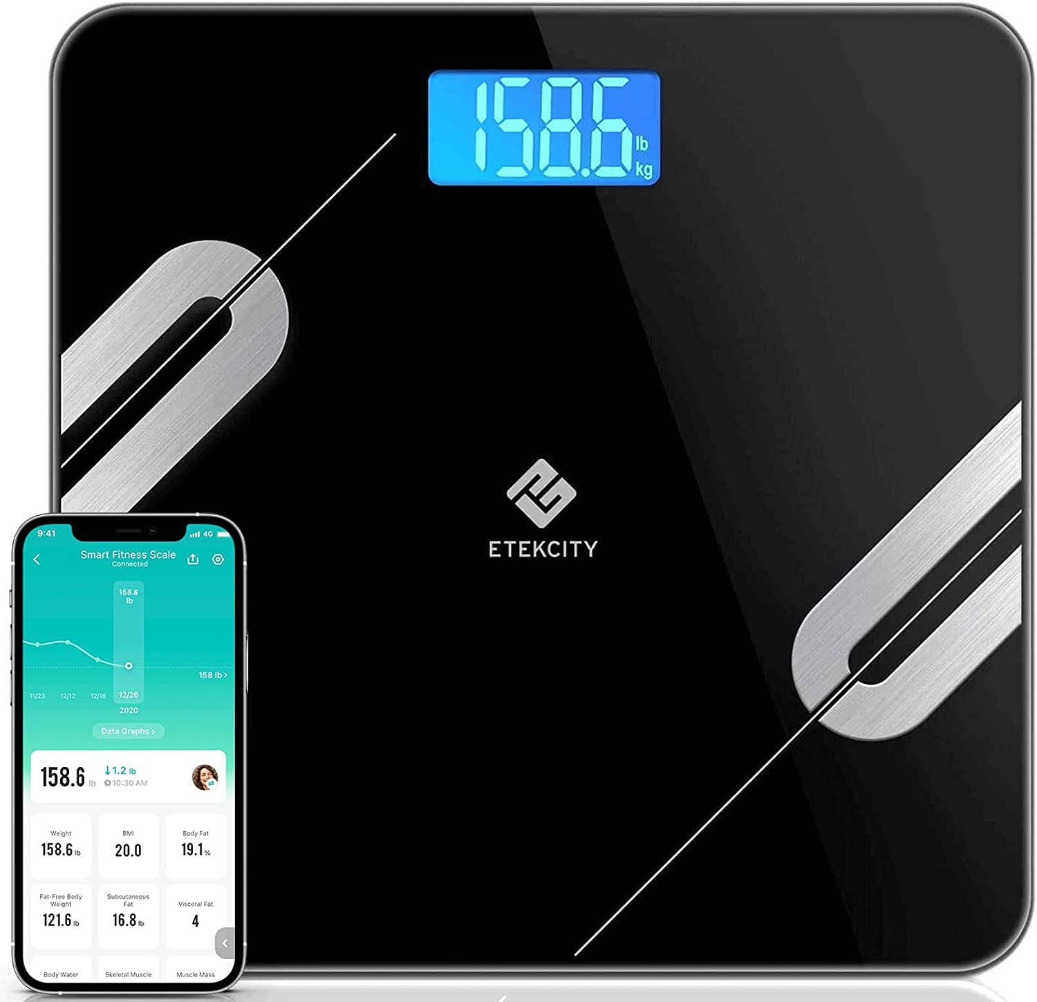 Etekcity Smart Digital Bathroom Scale Scales for Weight Time sale Finally resale start an Body