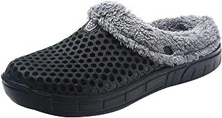 OHQ Zapatillas De Casa Pareja Hombre Invierno Mantener El Calor Antideslizante Interior Zapatos De Piso Dormitorio CáLido