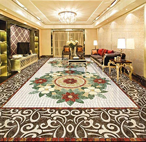 Papel pintado impermeable de mármol para suelo 3d dormitorio baño suelo autoadhesivo baldosas papel de vinilo-150 * 105 cm