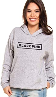 Moletom Canguru Feminino Kpop Black Pink ER_044