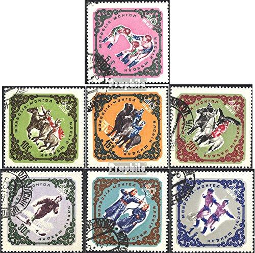 Prophila Collection Mongolei 260-266 (kompl.Ausg.) 1961 Sport (Briefmarken für Sammler) Pferde
