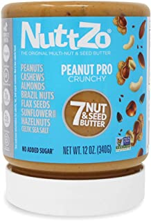 NuttZo Peanut Pro Nut Butter, Crunchy, Seven Nuts & Seeds, 12 Ounce