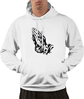 Maxdot Adhustable Pocket Hoodie Hooded Print with 6 Pray Hands OVO Drake Owl Design Pullover Hooded Sweatshirts for Mens