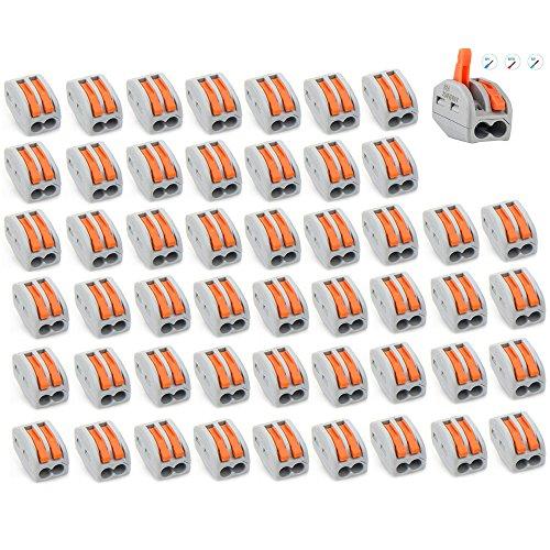 VAINECHAY 50PCS Lever-Nut 2//3//5 Conducteur /à Ecrou Levier Rapide Connecteur de Fil de C/âble Bornes Connexion Automatique pour Fils Flexibles Toronn/és Solides Electriques PCT-212 213 215