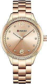 Curren 9003 Quartz Movement Round Dial Stainless Steel Waterproof Women Watch - Rose Gold, White