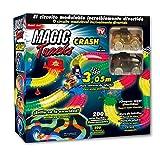 Las Ofertas de la Tele Magic Tracks CRASH: el circuito modulable que brilla en la oscuridad. Ahora con cruces, muros y señales de tráfico