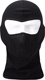 Autofy Full Face Mask for Bike Riders with Air Net (Black, Freesize)