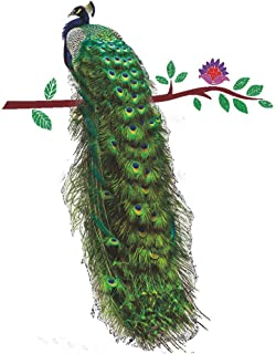 EdC DIY Colorful Peacock Wall Stickers, Removable Wallpaper Lovely Wall Decoration Romantic Sweet Cute for Living Room Nursery Kids Bedroom TV Wall Decal Home Art Vinyl Mural Decor
