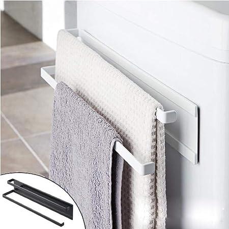 Chef Aid Towel Holder Push To Grab Hold Kitchen Bathroom Towel Rack Rail