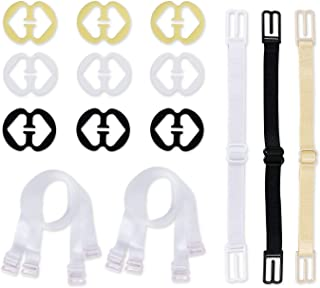 SUMMER BEAUTY 3-Pairs Clear Bra Straps,Invisible Bra Replacement Transparent Bra Straps Multiple Width Removable