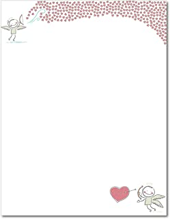 Bow and Arrow Heart of Love Stationery Paper - 80 Sheets