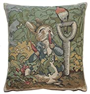 Peter Rabbit Beatrix Potter Feather Filled Tapestry Cushion An Official Beatrix Potter Licensed Prod...