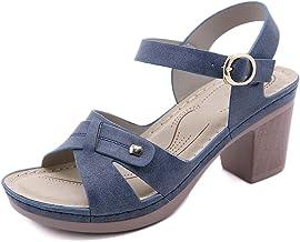 Sandales d'été Boucle pour dames Talon épais Ne serrant pas les pieds Coutures métalliques confortables Talon intérieur mi...