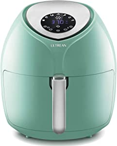 Ultrean 6 Quart Air Fryer, Large Family Size Electric Hot Air Fryers XL Oven Oilless Cooker with 7 Presets, LCD Digital Touch Screen and Nonstick Detachable Basket,UL Certified,1700W (Blue) (Renewed)