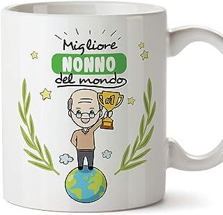 Babloo Tazza Mug Idea Regalo Festa dei Nonni Meno Male Grafica Nonni