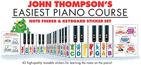 John Thompson's Easiest Piano Course: Note Finder & Keyboard Sticker Set