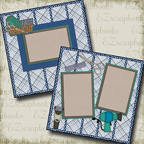 FIRST HAIRCUT BOY - Premade Scrapbook Pages - EZ Layout 2153