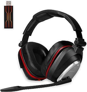 Auricularesn gaming inalámbricos Gaming con Bass 7.1 Surround y Orejeras de metal auriculares con microfono para PS4, Nint...