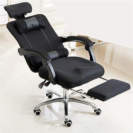 电脑椅办公椅家用电竞网布升降转可躺椅子人体工学职员椅 (黑色)