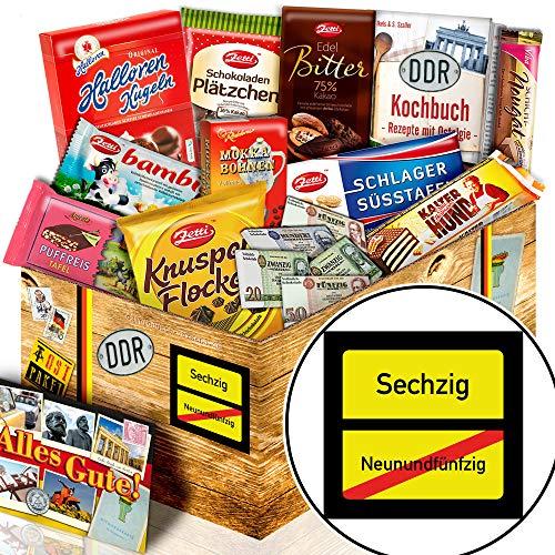 Ortsschild 60 ++ Geschenke zum 60ten Geburtstag ++ Präsentkorb Schokolade DDR L
