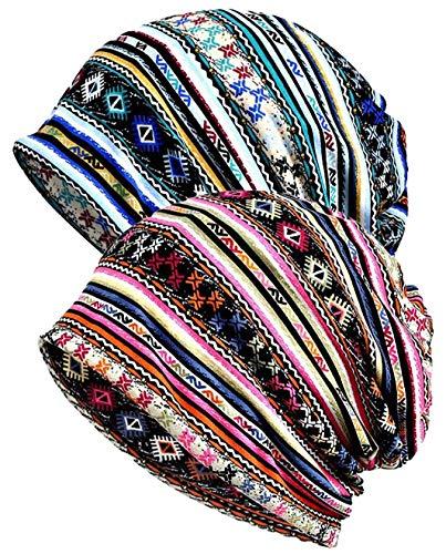 XYIYI Femmes Chapeau de Chimio Coton Bonnet Chapeau Turban Couvre-Chef Head Wraps (Bande)