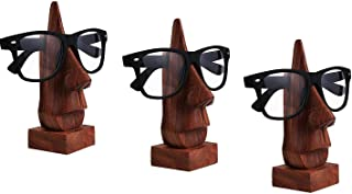 Set of 3 Wooden Spectacle Holder, Eyewear Holder, Eyeware Retainer Holder, Sunglasses Stand, Goggles Holder Perfect for Family