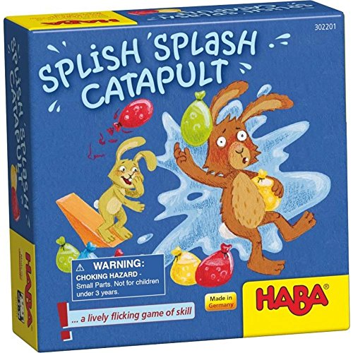 HABA Splish Splash Catapult - A Lively Flicking Game of Skill (Made in Germany)