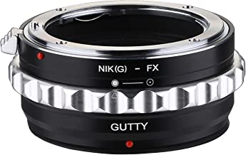 Gutty Lens Mount Adapter for Nikon AI (G) Mount Lens to Fujifilm X-Mount Camera Body, Fits X-A2 X-M1 X-T2 X-Pro1 X-Pro2 X-E1 X-E2 X-E2S