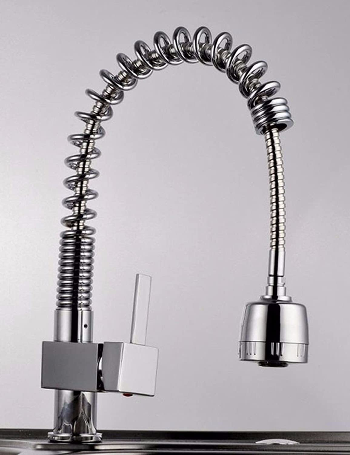 QMPZG-Pull the kitchen faucet, water single type spring pulling redating kitchen faucet