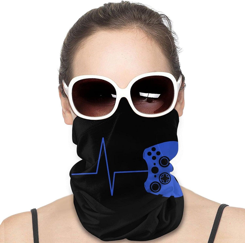 Heartbeat of A Gamer Neck Gaiter Windproof Face Cover Balaclava Outdoors Magic Scarf Headband for Men Women Motorcycling Fishing Running Climbing