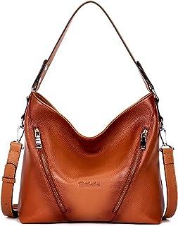 BOSTANTEN Leder Damen Handtaschen Schultertasche Umhängetasche Tote Bag