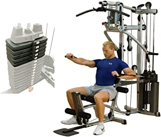 Body-Solid Powerline Home Gym (P2X) with Optional 50LB SELECTORIZED Weight Stack Upgrade