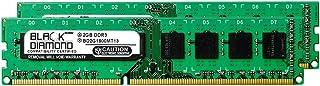 4GB 2X2GB RAM Memory for Gigabyte GA-7 Series GA-790FXTA-UD5 DDR3 DIMM 240pin PC3-12800 1600MHz Black Diamond Memory Modul...