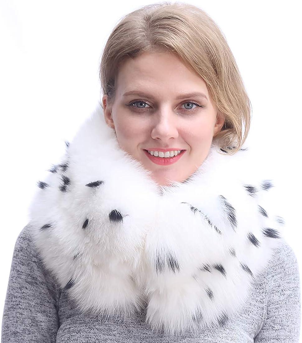Real Fox Fur Collar Infinity Scarf   Fur Wrap Shawl Scarves Shrug