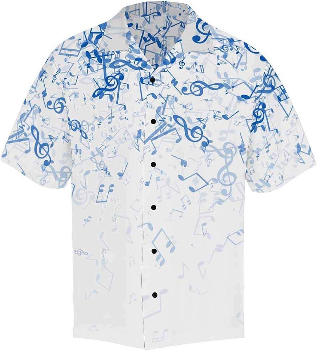 InterestPrint Men's Casual Button Down Short Sleeve Pair of Sneakers Hawaiian Shirt (S-5XL)