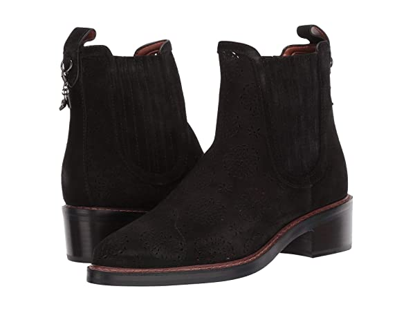 COACH Bowery Chelsea Boot with Cut Out Tea Rose