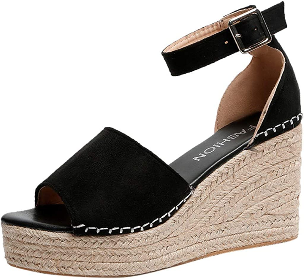 Women's Wedge Sandals With Pearls Across The Top Platform Sandal