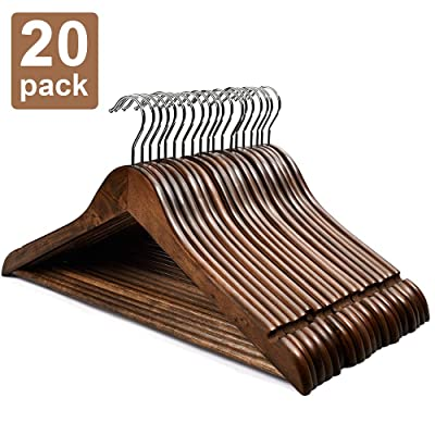HOUSE DAY Wooden Hangers 20 Pack Wooden Clothes...