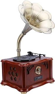 $750 » SMQHH Mini Vintage Retro Classic Style Phonograph Gramophone Shape Stereo Speaker Sound System Music Box 3.5mm Audio Blue ...