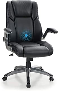 PHI VILLA Office Chair with Mid Back,Ergonomic Desk Chair with Massage Lumbar Support,Executive Office Chair with Adjustab...