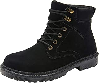 Flat Boots Outdoors Men's Basic Boot Work Low heeled Lace Up Premium Shoes Work Boots