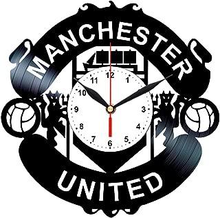 Queen Clocks Manchester United Logo Emblem Vinyl Record Wall Clock Best Fans Gift Home Decor