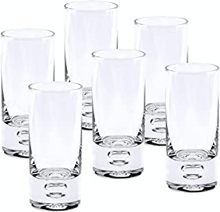 Badash - Galaxy 6 Pc Set Mouth Blown Lead Free Clear Crystal Shot or Vodka Glasses 3 oz. - H4