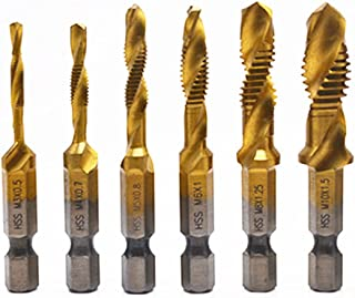 Drillco 2800E Series High-Speed Steel Hand Threading Tap Set Bright M3.5 x 0.60 Size Round Shank with Square End Uncoated Finish