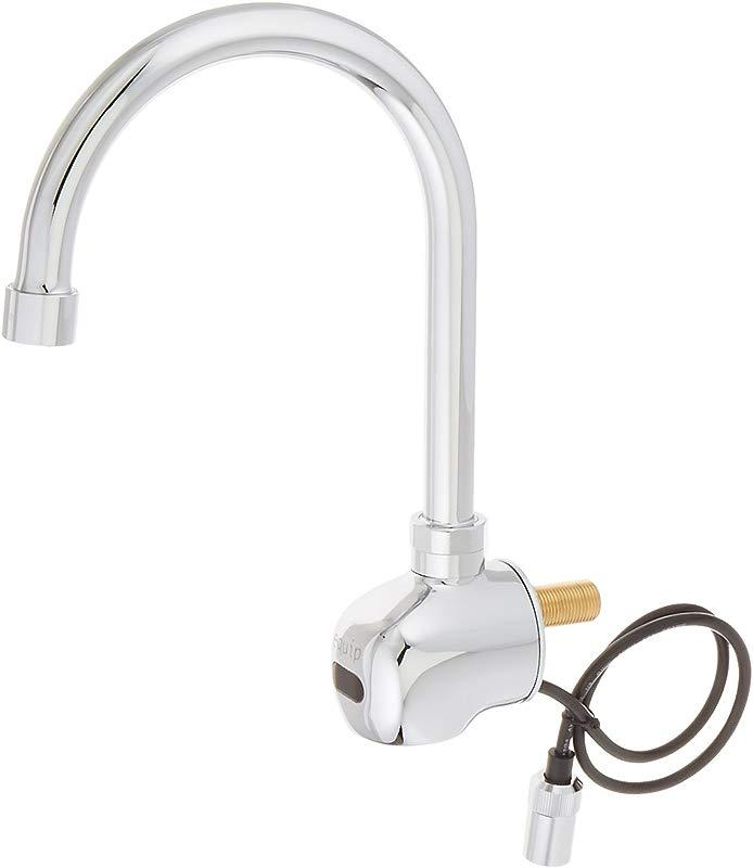 T S Brass 5EF 1D WG Wall Mount Swivel Gooseneck Equip Sensor Faucet