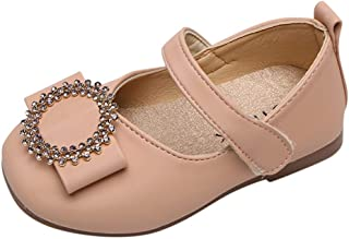 DolceTiger Sandales Ceremonie Fille, Chaussures De Princesse à Fond Souple pour Enfants De Couleur Unie Petites Chaussures...