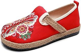 Dames canvas zomer chique retro stoffen schoenen slip-on schoenen outdoor schoenen dames schoenen 35-40