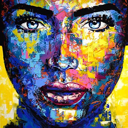ORIGINAL UNIKAT Gemälde abstrakt modern Acryl Gesicht Leinwand Bild 967 Portrait